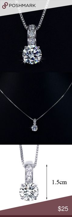 ✨Elegant white gold plated necklace ✨ Beautiful cubic zirconia diamond necklace. Jewelry Necklaces
