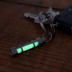 GLOW FOB. Misplacing our keys is just about a weekly occurrence. Nine times out of ten, they're in the sofa cushions, but every now and again, we get sent on a wild goose chase. To make those hunts and opening the front door at night a bit easier, attach the Glow Fob to your keychain. Depending on the sunlight it receives, the Glow Fob can stay illuminated for up to 12 hours. Get one now and you'll be thankful later.