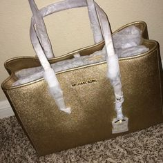 Gold Michael Kors Purse brand new with tags Michael Kors Bags