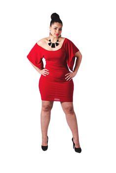 Plus Size off the shoulder Pencil Dress for Curvy Women. $85.00, via Etsy.