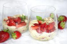 Jordbærtrifli - skøn opskrift på lækker og nem trifli med jordbær