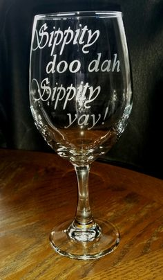 etched 20 oz. wine glass