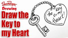 How to draw the Key to your Heart for Valentine's Day