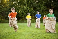 Risky play idea #5: A family sack race!