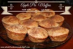 Apple Pie Muffins {made with Oat Flour}