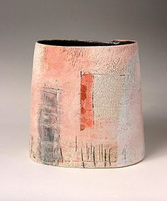 Ceramics by Craig Underhill at Studiopottery.co.uk - 2009 Red window and ladder Height 22cm.