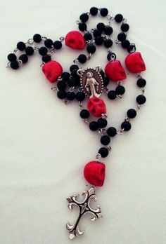 Dia de los Muertos Rosary Day Of The Dead With by PrettyMeatStuff