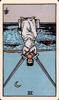 The Card of the Day: The Two of Swords (Reversed) yup exposed lies fucking bitch doesn't fucking care about anyone but having a goddamn ugly white ass girlfriend