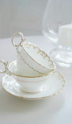 Fresh Farmhouse - Teacups with... a touch of elegance.