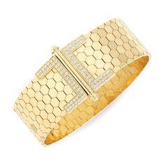 18k Yellow Gold & Diamond Bracelet from Lee Michaels