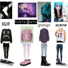 """""""emo pastel goth grunge scene"""" by olivers-empire on Polyvore"""
