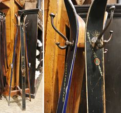 My old house-mate Shanon needs to make this out of all the skis she has in her garage.