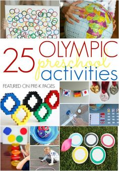 Activities to Celebrate the Olympics with Preschool or Kindergarten Kids at home or school - Pre-K Pages