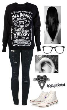 """Untitled #1142"" by xxghostlygracexx ❤ liked on Polyvore featuring 2LUV, Converse and Carrera"