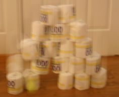 Toilet paper Tower of Babel and other fun ideas for teaching the Genesis 11 Bible story!  Lesson idea for Sunday school, MOPPETS (MOPs) or family night.