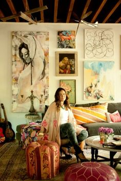 """SUPER inspirational....Shes living it!! Love this. Thanks for sharing....    Original Post: """"Can't get enough of my cousin Anna's beautiful Brooklyn home. It was all set up for this shoot when we visited in May. So inspiring."""""""