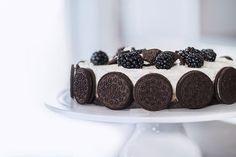 No Bake Oreo Cake mit Oreo-Keks-Boden und Schokokuss-Creme