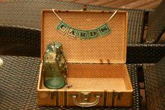 Suitcase wedding card box vintage suitcase by vintageatmosphere, $59.99