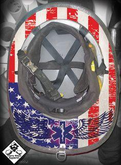 Ranger Up Thin Red Line Flag Fire Tee Firefighter Tattoo - Fire helmet decals