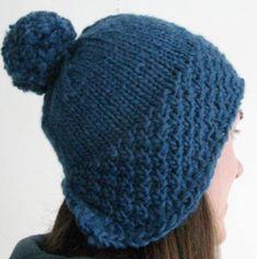 Cute Pompom Hat   AllFreeKnitting.com