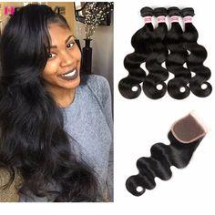 Grade 8A Peruvian Bodywave With Closure Hotlove Hair With Closure  Peruvian Virgin Hair Body Wave With Closure