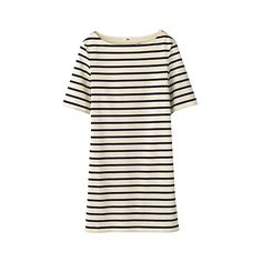 la marinière ❤ liked on Polyvore featuring dresses, tops, stripes, vestidos, breton dress, white stripe dress, stripe dress, breton stripe dress and striped dress