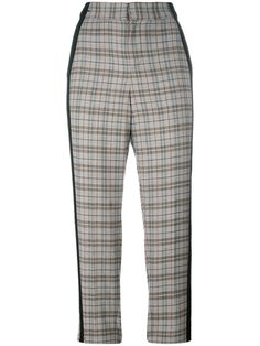A.F.VANDEVORST check cropped trousers. #a.f.vandevorst #cloth #клетку
