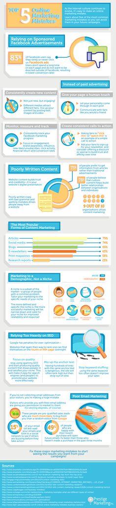 Top 5 Online Marketing Mistakes #digitalmarketing