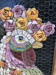 Galo Mosaico Picassiette by Andrea Olighon