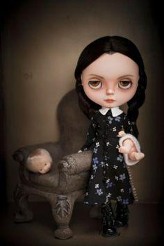 Custom Blythe, Wednesday Addams - Erregiro dolls