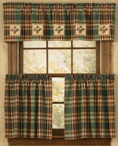 Check out the deal on Pinecone Patch Lined Valance at Primitive Home Decors