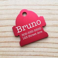 MEDIUM Hydrant  Dog Pet ID Tag - Custom Engraved Pet Tag - Medium Dog Tag by BlackDogEngraving on Etsy