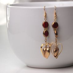 Romantic Two Hears Collide Earrings by JackieLittleMiller on Etsy, $9.50