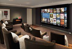 LOVE the screen movie selection feature!  Arthur McLaughlin & Associates contemporary media room
