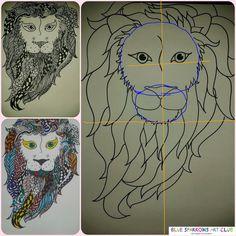 Blue Sparrows Art Club Blog: Zentangle Lions