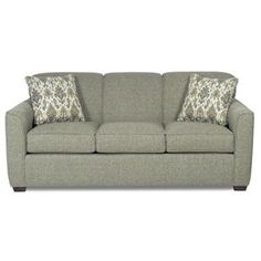 Craftmaster 725500 Contemporary Sofa With Flared Track Arms   Old Brick  Furniture   Sofa Capital Region