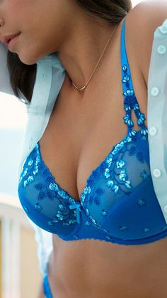 #PrimaDonna First Lady in Barcelona Blue #lingerie Spring 2015