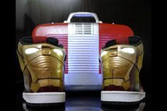 The latest from the labs at Stark Industries is this incredible pair of Iron Man Nike Dunks! #sneakers