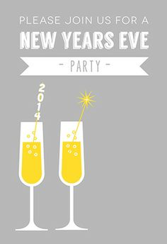 Join Us For New Year Eve Printable Invitation Customize Add