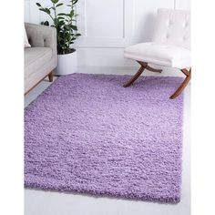 Unique Loom Solid Shag Area Rug - On Sale - Overstock - 21118644 Rugs In Living Room, Living Spaces, Room Rugs, Solid Rugs, Area Rugs For Sale, Best Carpet, Purple Area Rugs, Online Home Decor Stores, Shag Rug
