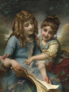 Etienne Adolphe Piot, The reading lesson.