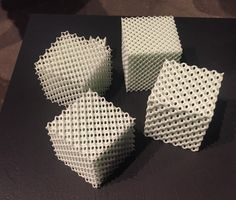 Examples of different densities/lattice structures that can be achieved with Digital Light Synthesis