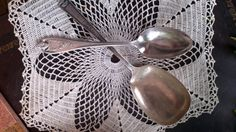 Pair of Antique Serving Spoons by ArtandBookShop on Etsy, $12.00