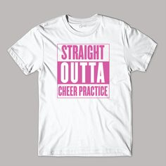 "Perfect because we are always ""Straight Outta Cheer Practice! Cheer Camp, Cheer Coaches, Cheerleading Gifts, Cheer Stunts, Cheer Gifts, Cheer Dance, Cheer Bows, Cheer Practice, Cheer Quotes"
