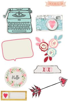 FREE printable planner stickers                                                                                                                                                                                 Mais