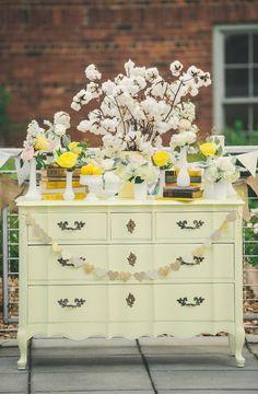 muebles vintage bodas deco