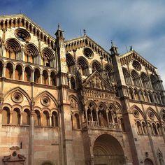 The Ferrara Cathedral or in Italian: Basilica di San Giorgio, Duomo di Ferrara - Ferarra, Italy.  Seat of archbishop of Ferarra.  Instagram by dante8
