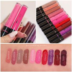 bh cosmetics liquid lipstick swatches