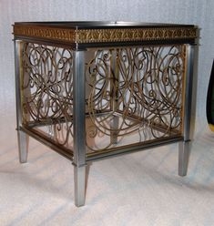 brass table Blacksmithing, Wrought Iron, Fence, Buffet, Cabinet, Storage, Brass, Furniture, Design