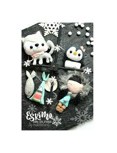 Nordic Mobile bébé, American Eskimo, pôle Nord, lit mobile, bébé pingouin, Huskie, tipi, pépinière Tribal